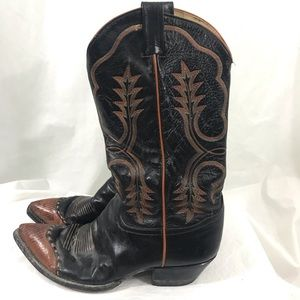 Men's Tony Lama Brown Leather Cowboy Boots 9.5